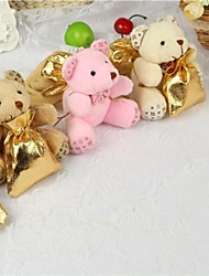 Plush Teddy Bear Favor Bags For Wedding Set of 12(Random Color)