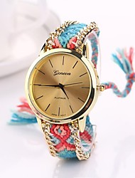 Women Big Circle Dial  National Hand Knitting Brand Luxury Lady Watch C&D-281