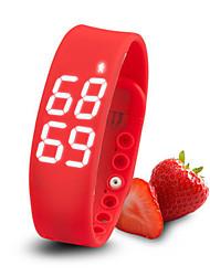 Tracker atividade Sport Watch inteligente slims Fortech pedômetro pulseira, monitoramento de sono, exposição de tempo digital