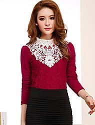 shangfei ™ moda feminina engrossar camisa do laço (mais cores)