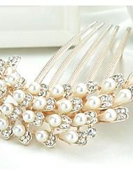 frizzante lussureggiante con perle e strass pettini