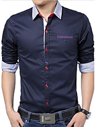 Men's Lapel Long-Sleeved Shirt