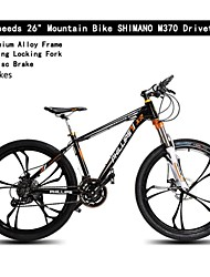 27 Speeds Mountain Bike 26 PH™ SHIMANO M370 Oil Disc Brake 6 Spokes Shocking Locking Fork Aluminium Alloy Frame