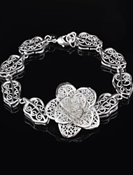 Dora Fashion Casual Silvering Flower Ocut Out Bracelet
