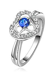 mint 925 anel de prata da forma do coração