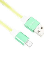 95CM Micro USB Aluminum Noodle Cable for HTC/Xiaomi/Huawei