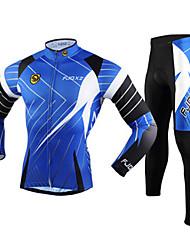 FJQXZ® Calça com Camisa para Ciclismo Homens Manga Comprida MotoRespirável / Mantenha Quente / Secagem Rápida / Resistente Raios
