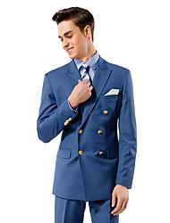 azul sólido traje ajuste a medida en viscosa