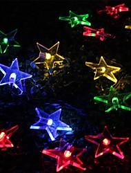 Solar Energy Star Light String Festival Courtyard Garden Decoration String Light 20 LED 4.8M