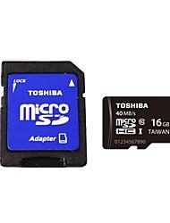original Toshiba Micro SDHC TF-Karte 16GB Class UHS-I w / SD Adapter r: 40MB / s sd-c016gr7ar040ach