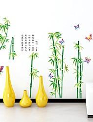 parede adesivos de parede decalques, vitalidade verde pvc bambu adesivos de parede