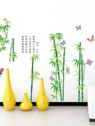Stickers muraux Stickers muraux, la vitalité vert bambou pvc stickers muraux