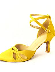 maßgeschneiderte Frauen Satin Ankle Strap Latin / Ballroom Dance Schuhe mit Strass (weitere Farben)