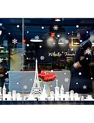 murali Stickers adesivi murali doudouwo®, pvc Natale adesivi murali perla bianca romantiche
