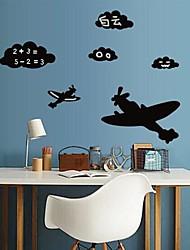 lousa parede adesivos de parede decalques avião e nuvens apresentam pvc removível e lavável