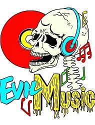 serie bricolaje cráneo de la música mal diseño del patrón del pvc etiqueta decoración para el coche y otros