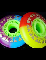 PU-Skate-Rollen für Rollschuhe Schuhe 76 mm 8 Stück (gelegentliche Farbe)