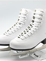 patinaje zapatos exceise nieve de cuero del pvc blanco -25C