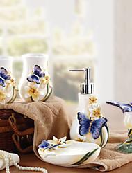 baño de juego de accesorios, kit europeo titulares de cepillo de dientes de cerámica artículos de baño Conjunto 5 piezas