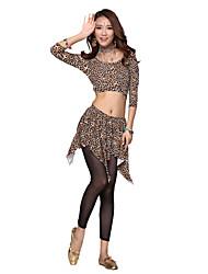 Belly Dance Dancewear Women's Silk Half Sleeves Elegant Belly Dance Outfits