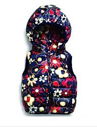 Winterjacke platzBaumwollBlumenMädchens bekleiden unten wadded Mantel der Winteroberbekleidung