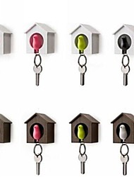 Single Sparrow House Key Chain Holder Boxed Random Color