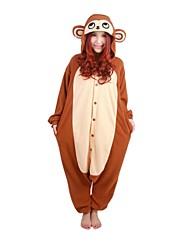 kigurumi Pyjamas Singe Collant/Combinaison Fête / Célébration Pyjamas Animale Halloween Fuschia Mosaïque Polaire Kigurumi Pour Unisexe