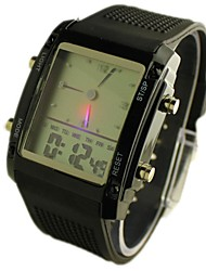 Men's Watch White Screen Sports LED Analog-Digital Display Multi-Function