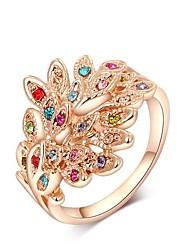 moda austria pavão cristal liga forma anéis de instrução das mulheres (1 pc)