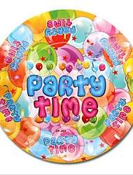 Grade A - Balloon Cartoon Cake Paper Plates Disposable Dessert Plates Kid's Birthday Party Supplies 12 Pieces