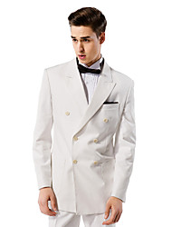 Off-White Solid Tailored Fit Suit In Viscose