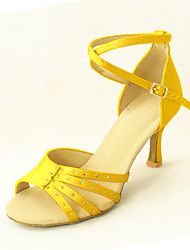 Customized Women's Satin Arch Strap Latin / Ballroom Dance Shoes With Buckle (More Colors)