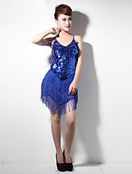 sequins sexy robe de performance gland de danse latine des femmes (plus de couleurs)
