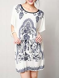 Women's Beach Dress Mini Silk / Cotton