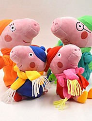 Peppa Pig Baby Pepe George Family Winter Stuffed Toy Plush Doll (4pcs/lot)