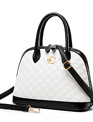 McCartney Women's Fashion Contrast Color Shell Shape Pu Tote Bag