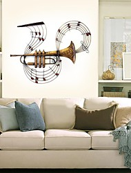 E-HOME® Metal Wall Art Wall Decor, Horn Sounded Notes Wall Decor
