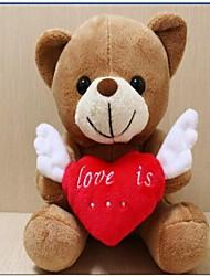 unisex as novas asas de anjo gravação amorosos ursinho de brinquedo de pelúcia