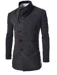 Moda slim lapela casaco de Johnny homens pescoço