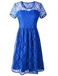 женская голубой кружевной спинки сексуальное платье клуба