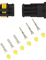 10 Kit 1.5mm Car Boat Motorcycle Bike Truck 3 Pin Way Waterproof Electrical Wire Connector Plug