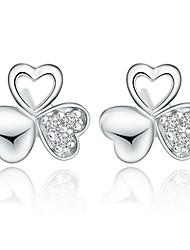 925 brincos de prata da forma das mulheres Aimei