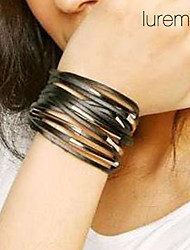 leather Charm Bracelets Lureme Multi-layers Leather Bracelet Jewelry Christmas Gifts