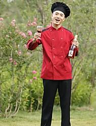 Ресторан Униформа с длинным рукавом шеф-повар пальто с двойной грудью кнопок