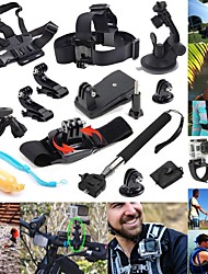defery-12-in-1 buitensporten essentials kit voor GoPro hero4 zilveren zwarte held 4 3+ 3 2