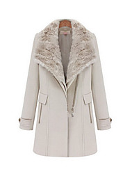 Taylor Women'S Shearling Tweed Trench Coat