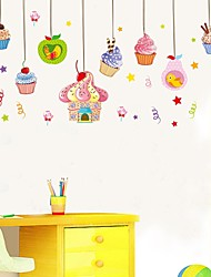 Wall Stickers Wall Decals ,Delicious Ice Cream PVC Wall Stickers
