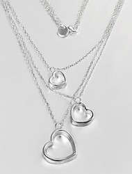 Fashion Women's Three-wire three Heart Necklaces N399