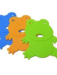 desenhos animados mat pote silicone forma sapo, cores aleatórias