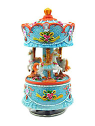 Valentine'sDay Gift, Marry-Go-Round Wooden Horse Music Box for Kids, Lovers (Random Colour)